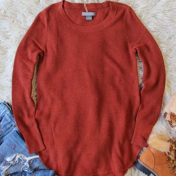 Everyday Layering Sweater in Rust