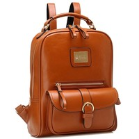 Tinksky® Brown Retro Shoulders Bag Fashion Girl's Backpack Student's School Bag