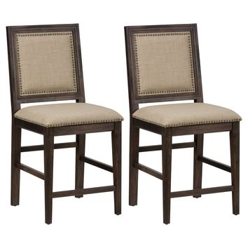 Jofran Geneva Hills Counter Height Stool - Set of 2 | www.hayneedle.com