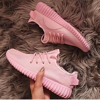 """Fashion """"Adidas"""" Womens Yeezy Boost Solid Color Leisure Sports Shoes"""