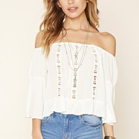 Crocheted Off-the-Shoulder Top