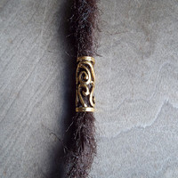 Gold Tone Filigree  Dread Charm Dreadlock Accessory Extension Accessories Dread Boho Bohemian Hippie Bead