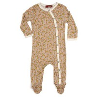 Bamboo Footed Romper - Rose Floral - 3 Sizes