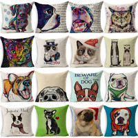 Colorful Dog Cushion Dachshund Throw Pillow Uncle Cat I WANT YOU Cushion Queen Dog Christmas Gift Pet Home Decorative Pillows