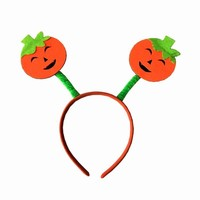 Halloween Masquerade Smiling Face Headdress Party Props Pumpkin Headband Halloween Party Headwear Party Supplies Accessories