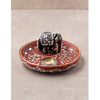 Sacred Elephant Incense Plate