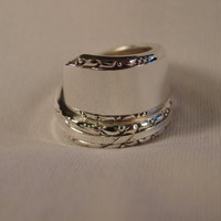 A Spoon Rings Plus Pretty Spoon Ring Wrap Size 7 1/2 Vintage Spoon Jewelry t630