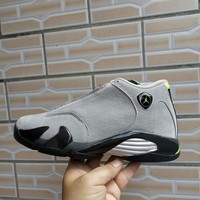 Air Jordan 14 Retro Gray/Geen