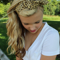 Leopard Print Wired Headband Dolly Band Retro Animal Cheetah Summer Trend Headwrap