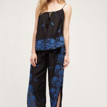 Tryb Shadow Bloom Joggers in Navy Size: