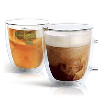 Double Wall Glass Coffee Mug - 12 oz