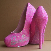 Pink Barbie Glittered High Heels