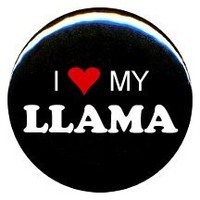 "1"" I Love My Llama Button/Pin"