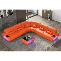 Exclusive Luxurious Modern Leather Sectional Sofa Set