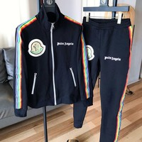 Moncler Autumn Winter Newest High Quality Cardigan Jacket Coat Pants Trousers Set Two-Piece Sportswear