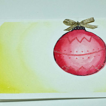 Christmas Ornament Holiday Card by SamIamArt