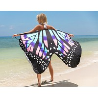 New sexy shawl beach skirt holiday dress with floral print straps