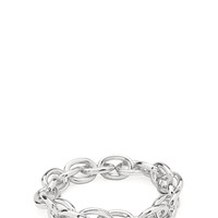 FOREVER 21 Chain-Link Stretch Bracelet Silver One