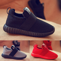 Children Sneakers Baby Kids Shoes Boys Sneakers Foamposite Smithing Child Yeezy Enfant Girls Shoes Snow  White wqy59