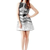 Chevron Sequin Dress at Guess