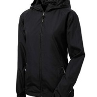 Sport-Tek Women's Colorblock Hooded Raglan Jacket