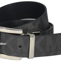 Michael Kors MK Black Reversible Belt with Silver Buckle Size: L