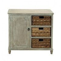 Weathered Cabinet with 3 Baskets
