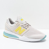 New Balance Lifestyle 247v2 Tritium Moonbeam & Sage Shoes | Zumiez