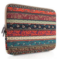 Bohemian Style Canvas Fabricipad Air/netbook / Laptop / Notebook Computer / Macbook Air Sleeve Case Bag Cover