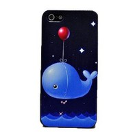 Galaxy Star Whale Balloon Hard Cover Case for Iphone 4/4s