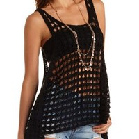 Crochet Trapeze Tank Top by Charlotte Russe