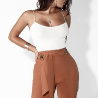 Caribou Gold Hardware Wide Leg Trousers