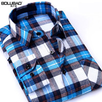 New Arrival Brand Clothing Spring Plaid Shirt Men Long Sleeve Casual Shirt Male Fashion Slim Fit Dress Shirt Size M-5XL