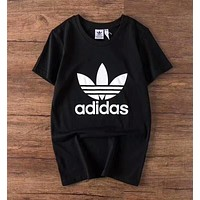 """Adidas"" Hot Letter Print T-Shirt Top Tee Black I-A-BM-YSHY"