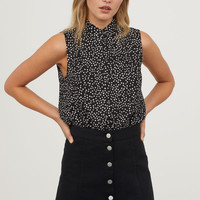 H&M Sleeveless Viscose Blouse $12.99
