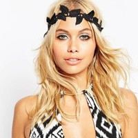 Europe And The United States Headdress Ladies Beach Leaves Lace Hair Belt Bohemian Lace Headband Hoop