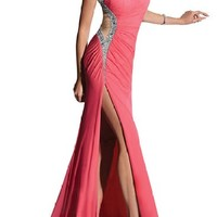 Gorgeous Bridal Sexy Long Deep-V Prom Wedding Party Gown Rhinestones
