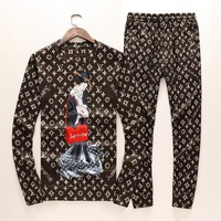 Louis Vuitton Top Sweater Pullover Pants Trousers Set Two-Piece Sportswear-1
