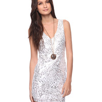 Abstract Sequin Dress