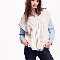 Old Navy Cable Knit Poncho