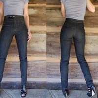 The Stealth Pant // High Waisted Jeans // Custom Denim Made to Order