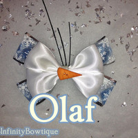 Olaf Frozen inspired Hair Bow