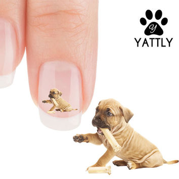 Pit Bull puppy Happy Meal! Nail Art Decals (Now 50% more FREE)