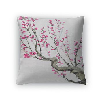 Crimson Flowers Pillow Case