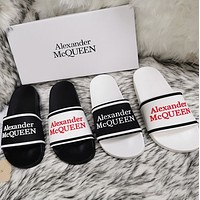 Alexander McQueen 2020 classic pattern flat shoes and slippers-6