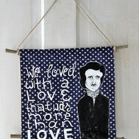 Tapestry Wall Hanging // Edgar Allan Poe // Annabelle Lee // Book Lover's Decor // Wall Art // Home Decor // Gift for Reader