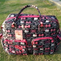 Hello Kitty Ultra-large Capacity Carry on Holdall Diaper Tote Bags Shoulder Bag /Handbag Travel Bag