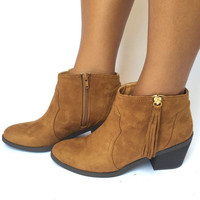 Round Up Booties In Dark Brown