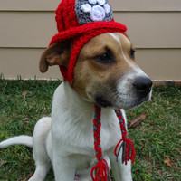 Firefighter Dog Hat Costume - The Hot Dog's Fire Hat - Dog Clothing Dog Clothes Dog Apparel