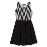 Xhilaration® Junior's Fit & Flare Dress - Black